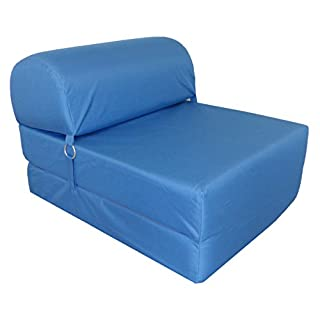 Chauffeuse convertible Polyester Bleu 75 x 58 x 48 cm