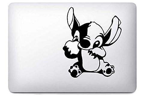 Stitch par i-Sticker : Stickers autocollant MacBook Pro Air décoration ordinateur portable Mac Apple