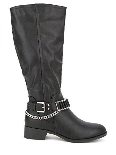 Cendriyon, Cavalière Noire ELLA LUX Chaussures Femme Noir