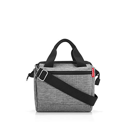 Reisenthel Allrounder Cross Twist Silver Umhängetasche, 24 cm, 4L, Twist Silver - Cross Handtasche Tasche