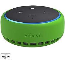 Mission - Custodia in silicone per Amazon Echo Dot (terza generazione), Verde