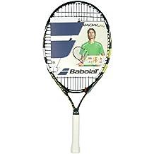 Babolat Nadal JR 21 - Raqueta encordada para niño, color negro / azul, talla 0