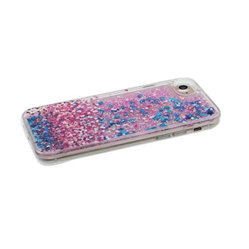 "iPhone 7 Hülle, Skin harte freie Handyhülle iPhone 7, Glitter Bling Transparent Hard Clear funkelt Shinny fließend, Apple iPhone 7 Case Cover 4.7"", Schock-bestän und Ring Ständer (Pferd) # 8"