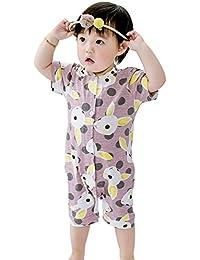 Baby-Jungen und Mädchen-Kleidungs-Sätze, Säuglingskind-Kurzschluss-Hülsen-Baumwolldruck-Spielanzug-Overall
