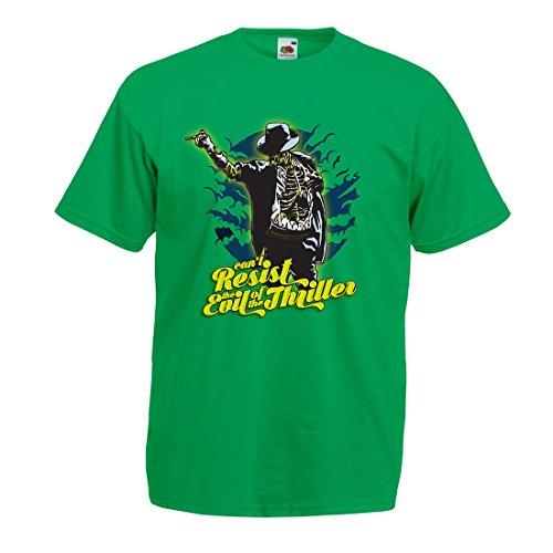 lepni.me Männer T-Shirt Vintage Band Kleidung, 80er Konzert Waren (Large Grün Mehrfarben)