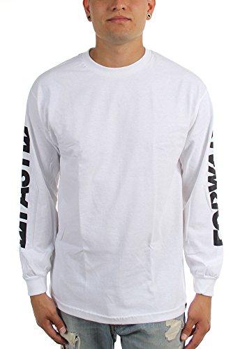 KR3W - Herren-Fergus nach vorne Langarm Shirt White