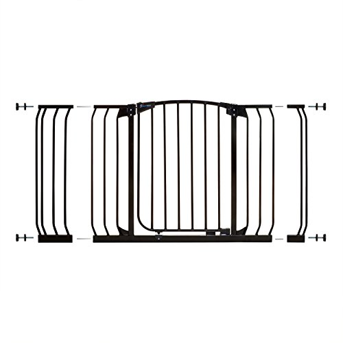 Dreambaby Chelsea Xtra-Wide Safety Gate Set - 1 gate + 2 extensions (Fits 97cm-133cm) Black  Dreambaby®