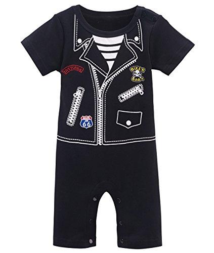 Mombebe Baby Jungen Punk Halloween Kostüm Stramplere (18-24 Monate, Punk)