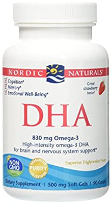 Nordic Naturals DHA - from Purified Fish Oil Strawberry 90 sgels