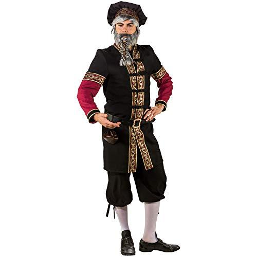 Orlob Fasching Kostüm Edelmann Mittelalter Herr - Gewand und Barett ()