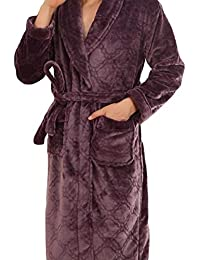 HX fashion Sauna Coat Men Nner Winter Thick Warm Bathrobe Comfortable Sizes  Pajamas Yards Long Comfortable f8a05c375
