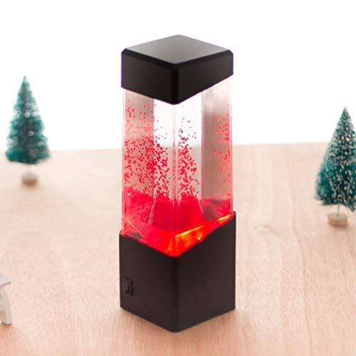 Bunt Lava-Lampe Vulkanlampe Led Tank Nachttisch Motion Lampe Schreibtischlampe Nachttisch Nachtlicht Für Aquarium Größe: 70 X 70 X 230Mm (Aquarium Lava-lampen)