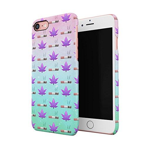 Tie Dye Cannabis Leaves Pattern Dünne Rückschale aus Hartplastik für iPhone 7 & iPhone 8 Handy Hülle Schutzhülle Slim Fit Case cover Cigarettes