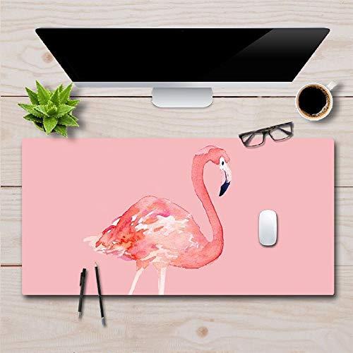Original Design Leder Illustration Mauspad Verdickung Laptop Schreibtisch Pad Flamingo 1 60cm & Times; 30cm (Pet-kiste Tisch Kleine)