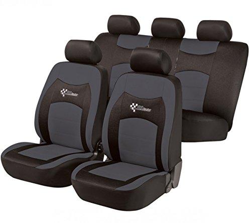 Preisvergleich Produktbild Timon 40913, Sitzbezug Schonbezug Autositzbezug, Komplett Set, Schwarz, Grau