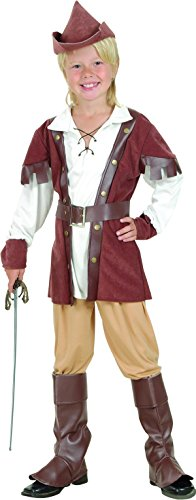 Kids Fancy Club Party Woche Tag Celebration Jungen Robin Hood Deluxe Kostüm UK
