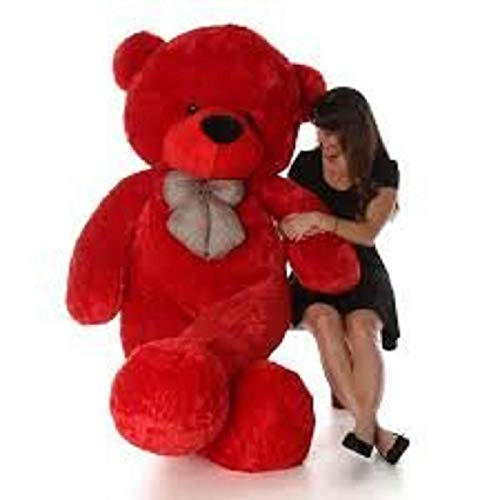 BN SOFT TOYS Cute and Lovable Teddy Bear for Girl and Kids [RED ,5 Feet]