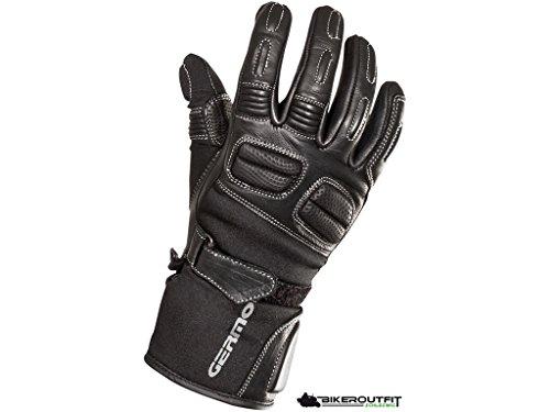 Germot Leon Kinder Motorradhandschuh, Farbe schwarz, Größe 3