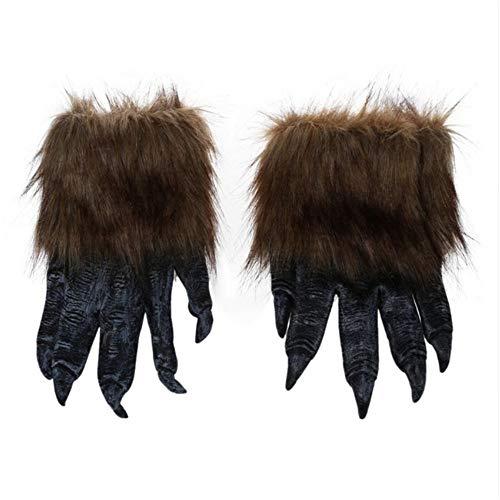 lf Handschuhe Halloween Maske Tier Maske Set Werwolf Maskerade Wolf ()