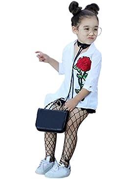 Amlaiworld Baby Mädchen tops pullis warm mode langarmshirt blumen Stickerei Freizeit Bluse,0-4 Jahren