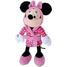 Minnie Mouse Disney peluche con albornoz calidad super soft. 30 cm sentada y 40 cm de pie.