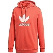 adidas Trefoil Warm-UP Hoodie Hooded Sweat, Hombre, True Orange, L
