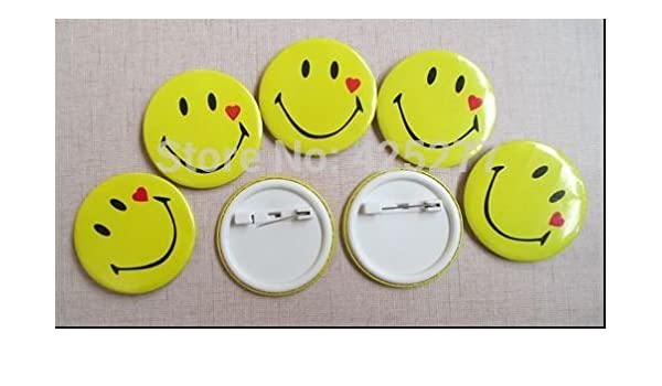 c712d77db73e Buy Fancy Smiley Badges (Set of 10) Online at Low Prices in India -  Amazon.in