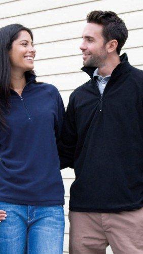 Result Core - Micron Fleece Troyer / Black, M Raglan-microfleece-pullover
