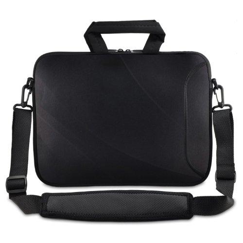 Uni schwarz 9,7 Zoll) bis 25,4 cm (10 Zoll / 10,2 Zoll) Laptops, Netbooks (Umhängetasche, Tragetasche, Schultertasche, für Apple iPad, Asus EeePC / Acer Aspire one / Dell inspiron Mini / Samsung N145 / Lenovo S205 S10 / HP Mini 210