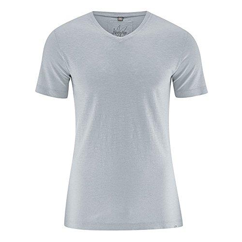 HempAge Herren T-Shirt Vince aus Hanf/Bio-Baumwolle Platinum