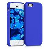 kwmobile Coque Apple iPhone Se / 5 / 5S - Coque pour Apple iPhone Se / 5 / 5S - Housse de téléphone en Silicone Bleu Roi