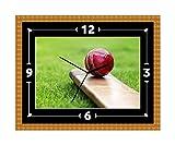 Wanduhr mit Cricket-Schläger und -Ball, Geschenk zu Weihnachten oder Geburtstag (kann personalisiert werden)