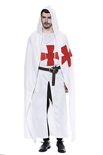 dream cosplay Mittelalterlich Krieger Cosplay Templer Ritter Kostüm (X-Large)