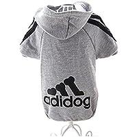Hemore Adidog Perros Ropa Chaqueta Abrigo Sudadera ndchen cálido Sudaderas Abrigo Perros Plus terciopelo mascotas Cachorros–Camiseta