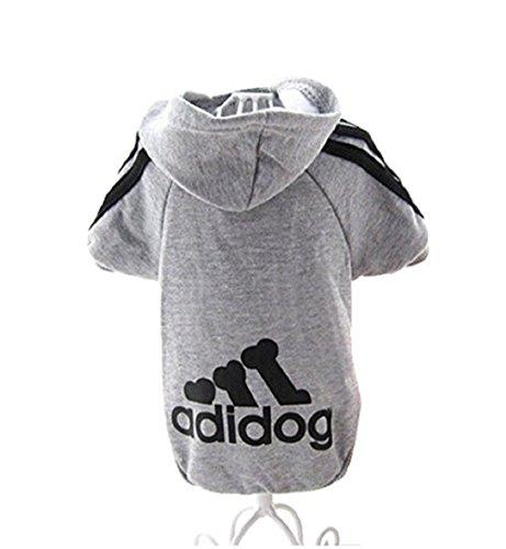 Adidog Hunde Kleidung Jacke ndchen Pullover Mantel Warm Hoodies Mantel Hunde Plus Samt Haustier Welpen T-Shirt