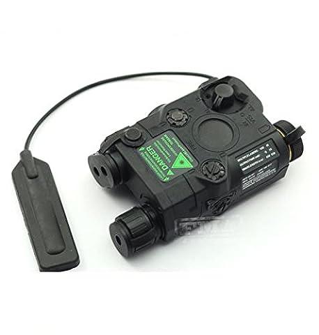 AIRSOFT PEQ-15 LASER torche IR PATIN DE PRESSION RIS 20mm RAIL M4 MP7 NOIR