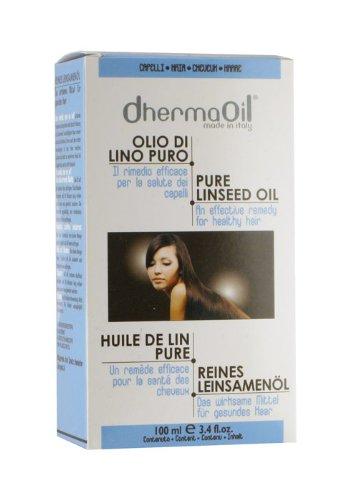 DhermaOil Olio di lino puro per la salute dei capelli