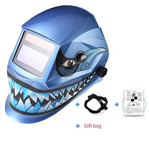 TAOTAO110 Masque de soudage, Le Masque de Soudure Photo-électrique Automatique, Arc à l'argon monté sur la tête de soudage à Cristaux liquides Bouchon soudage tincable Requin