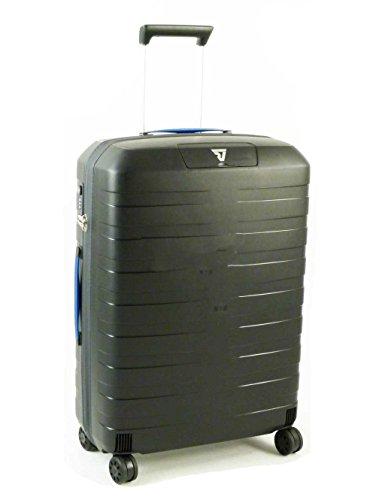 Trolley Medio Roncato | 4 Ruote 65 cm | linea Box | 5512-blu/nero