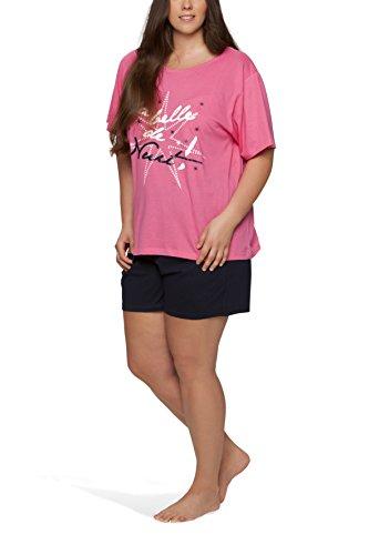 Damen Shorty in großen Größen - Moonline Plus Pink