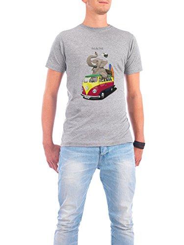 "Design T-Shirt Männer Continental Cotton ""Pack the Trunk"" - stylisches Shirt Tiere Automobile Kindermotive Comic Reise von Rob Snow Grau"