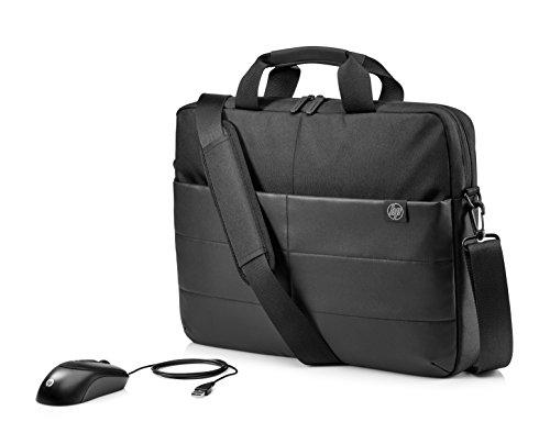 HP Aktentasche (39,62cm/15,6Zoll für Notebooks, Laptops, Tablets inkl. Maus) Schwarz