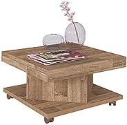 Artely MDF/MDP Saara Coffee Table, Rustic Brown, H33.5 x W63 x D63 cm
