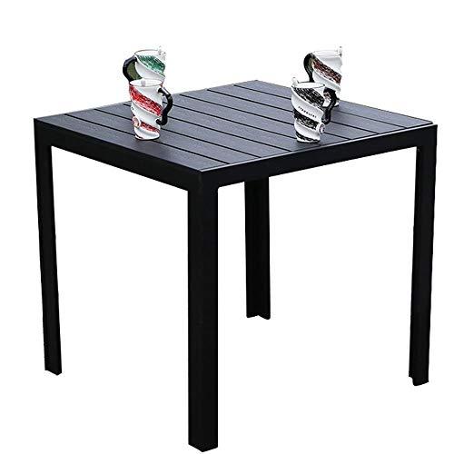 MQQ Garten Holz Couchtisch Indoor Outdoor Small Metal Square Side End Tisch Patio Coffee Bistro Tisch -