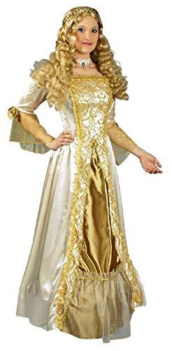 K31250538-40-42 beige Gold Prinzessinen Kleid Barockkostüm Gr.40-42