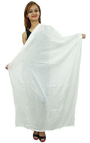 Lange Baumwollmischung Dupatta Stola indischer Schal Werfen Ansatz-Verpackung Chunni