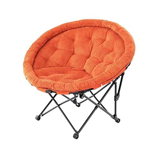 Wangcjd Hocker Orange Sitzbezug Klappstuhl Individual Moon Chair Lounge Chair Mittagspause Schlafcouch -