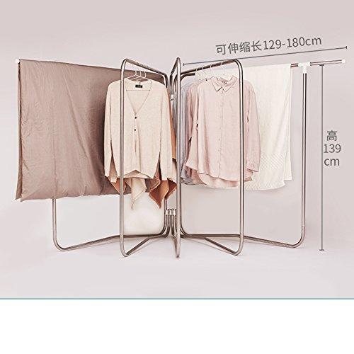 Vêtements etendoir, Pliage de mouvement inox panier séchage télescopique séchage grille balcon extérieur etendoir-G