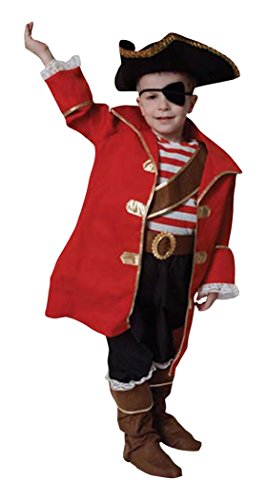 Dress Up America Deluxe Piraten Kapitän Kinder Kostüm