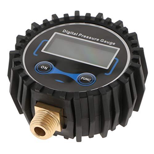 Shiwaki Manometro Pneumatici 200PSI Digitale Aria Manometro Pressione per Pneumatici con Schermo Retroilluminato a LCD